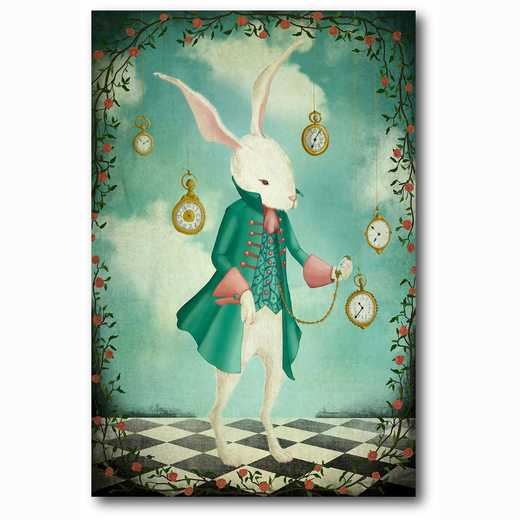 WEB-MV307-12x18: The White Rabbit , 12x18
