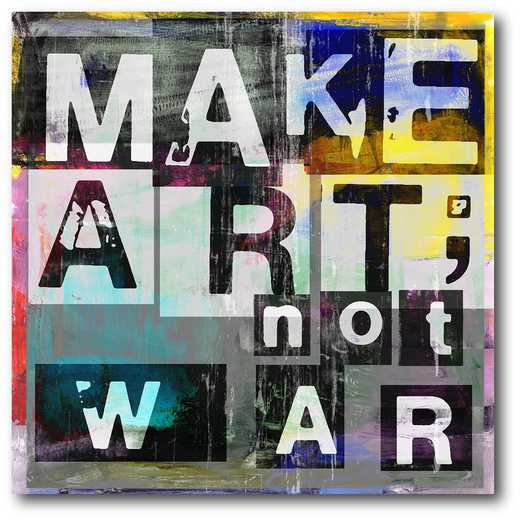 WEB-MV316-16x16: Make Art, Not War , 16X16