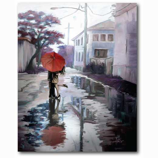 WEB-MV394-18X24: Romance in the Rain IV , 18x24
