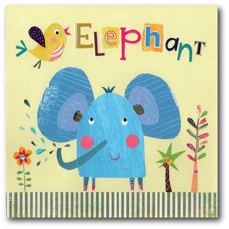 WEB-JV601-16x16:  Elephant Pope Twins , 16x16