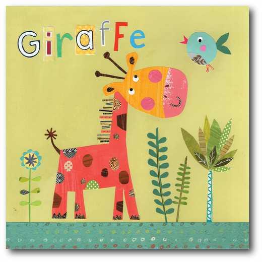 WEB-JV602-16x16:  Giraffe  Pope Twins , 16x16