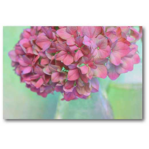 WEB-SC562-12X18: French Hydrangea Glass , 12x18