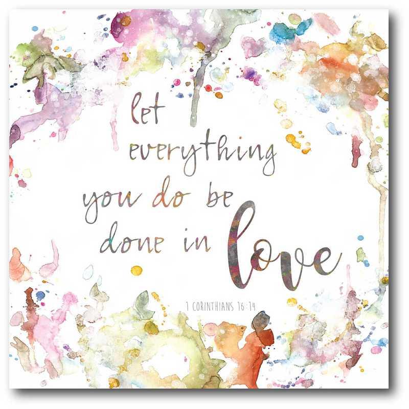WEB-T843-16x16: Done In Love , 16X16