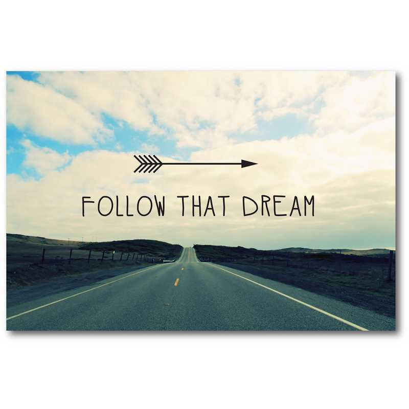 WEB-TS226-12x18: Follow that Dream , 12x18