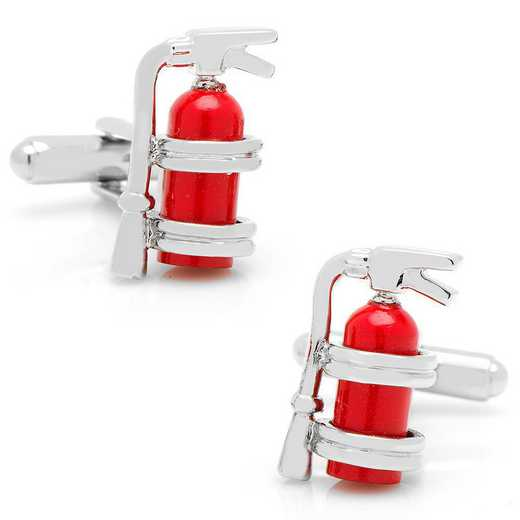 CC-EXT-SL: Enamel Fire Extinguisher Cufflinks