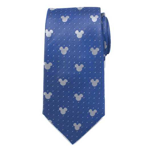 DN-MDT-BL-TR: Mickey Mouse Blue Pin Dot Mens Tie
