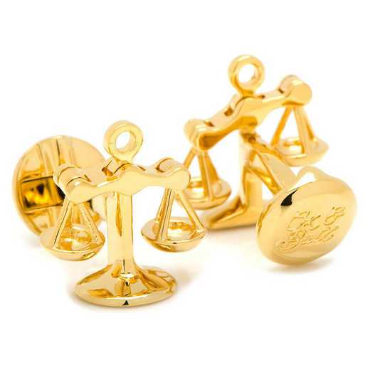 OB-MP-SOJGL: Moving Parts Gold Scales of Justice Cufflinks