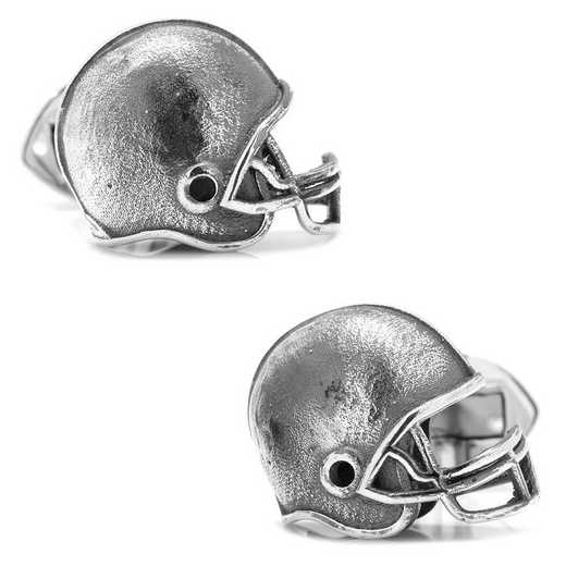 OBS-FTBLH: Sterling Silver Football Helmet Cufflinks