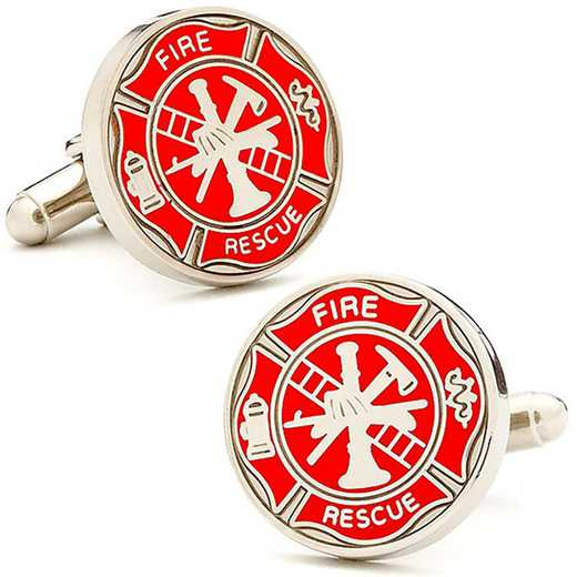 PD-FIRE-SL: Firefighter Shield Cufflinks