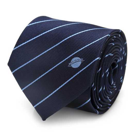 DC-BL-SDP-BL-TR: Superman Daily Planet Navy Stripe Mens Tie