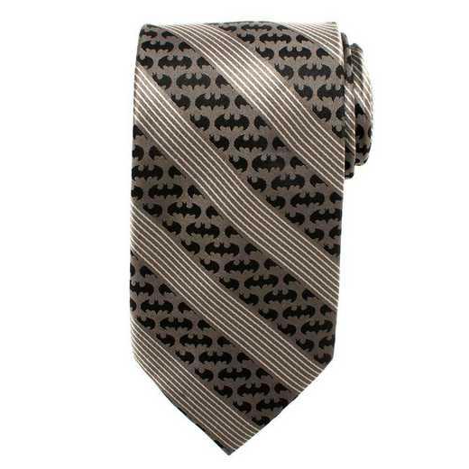 DC-TG-BBS-TR: Batman Black Pinstripe Tie