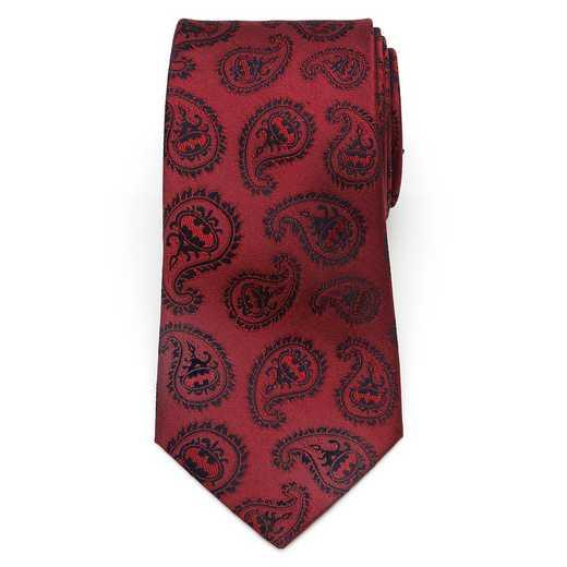 DC-TG-RBP-TR: Red Batman Paisley Tie