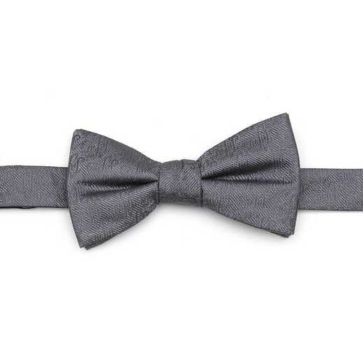 DN-JAFAR-GRY-BT: Jafar Writing Motif Gray Men's Bow Tie