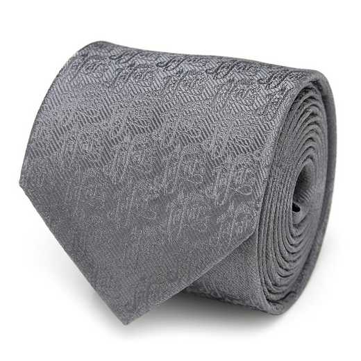 DN-JAFAR-GRY-TR: Jafar Writing Motif Gray Men's Tie