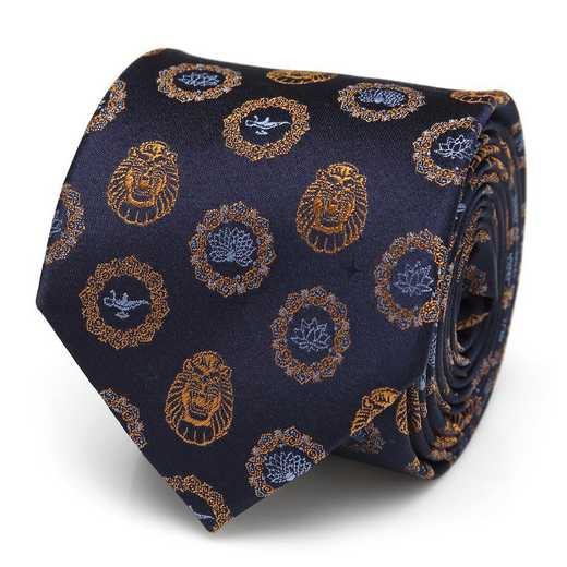 DN-LMPCVW-BL-TR: Lamp and Cave of Wonders Scattered Blue Men's Tie