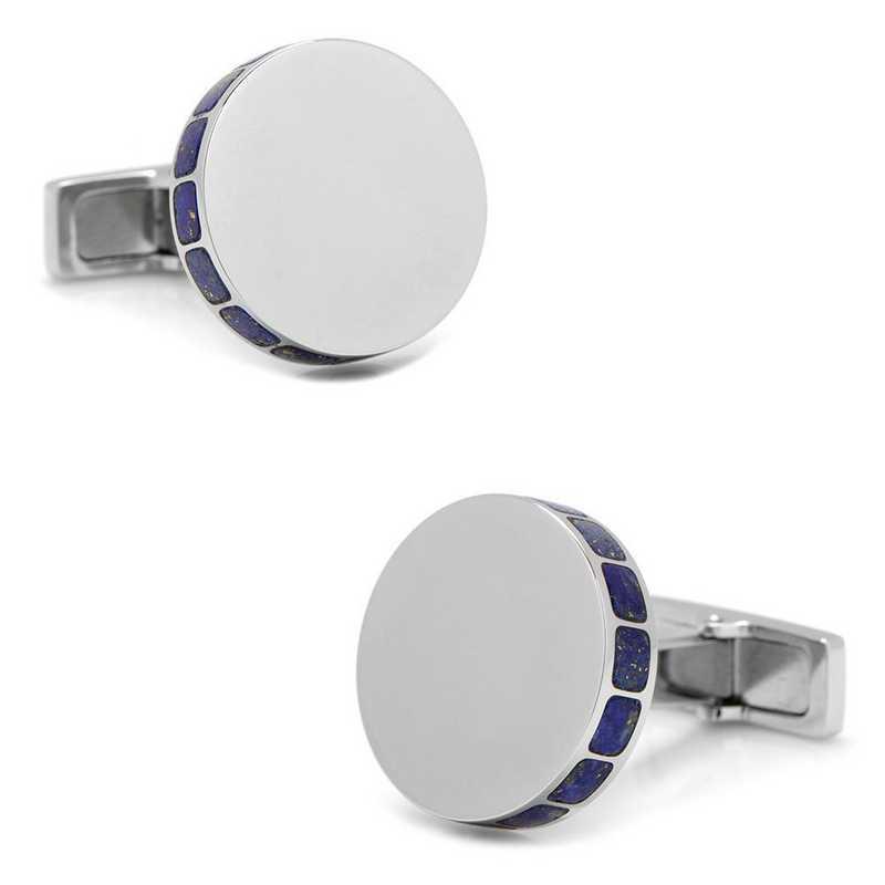 OB-ENGLAP-STL: Stainless Steel Lapis Mosaic Cufflinks