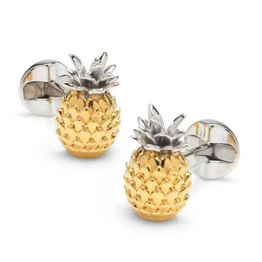 OB-PINAPL-SL: Pineapple 3D Cufflinks