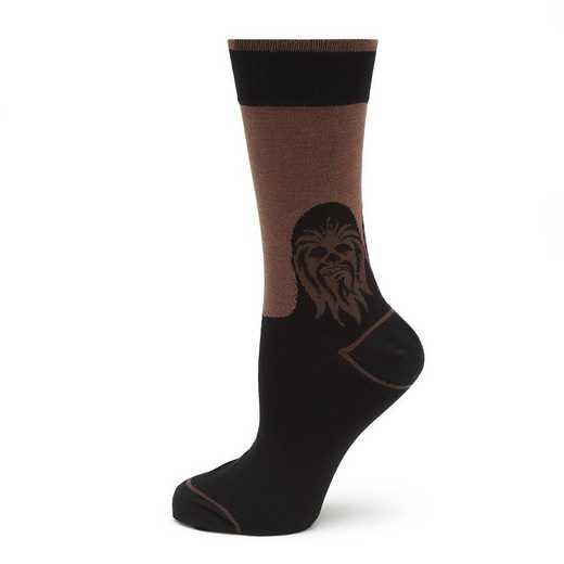 SW-CHMD-BK-SC: Chewbacca Mod Black Socks