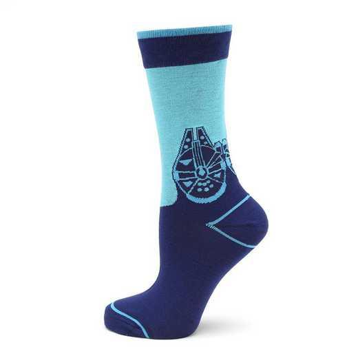 SW-MFMD-BL-SC: Millennium Falcon Mod Blue Socks