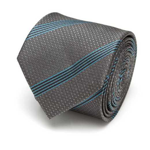 SW-MILUM-FAL-GRY-TR: Millennium Falcon Stripe Gray Men's Tie