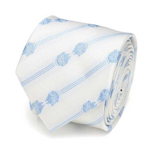 SW-MILUM-FAL-MIR-WHT-TR: Millennium Falcon Mirror Stripe White Men's Tie