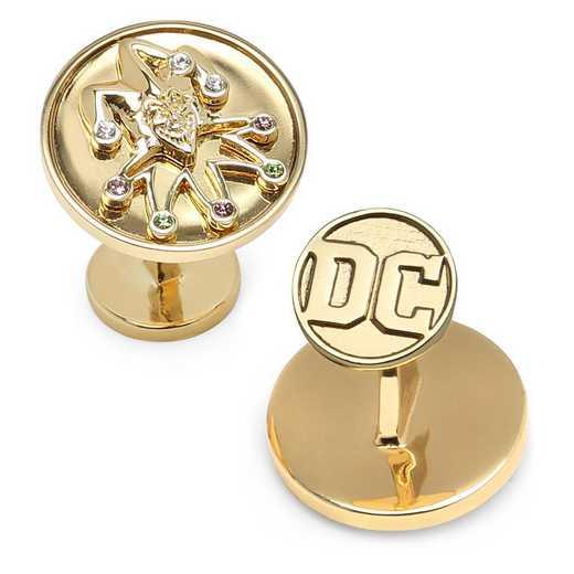 DC-JKFEGD-SL: Gold Joker Cufflinks