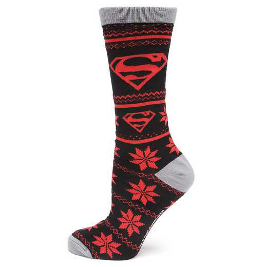 DC-SUP-FRILE-SC: Superman Fair Isle Socks