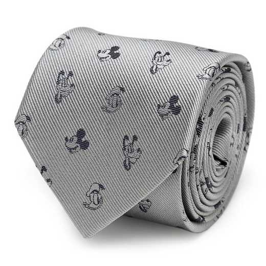 DN-MFRIDS-GRY-TR: Mickey and Friends Gray Men's Tie