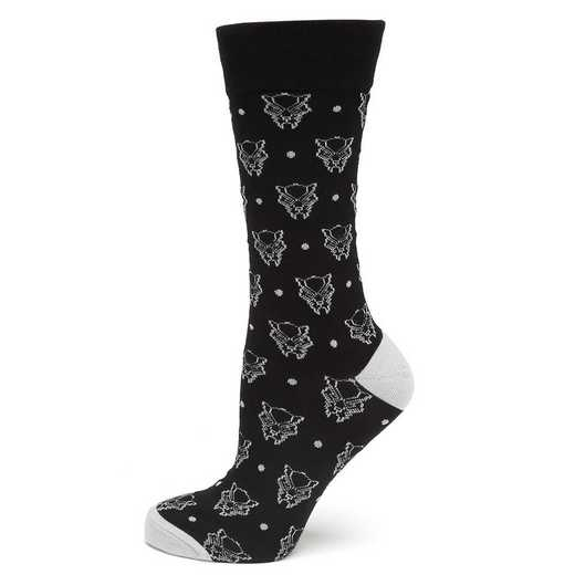 MV-BPDT-SC: Black Panther Dot Sock