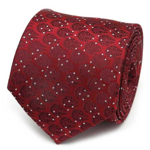 SW-MFDT-RD-TR: Millennium Falcon Dot Red Men's Tie