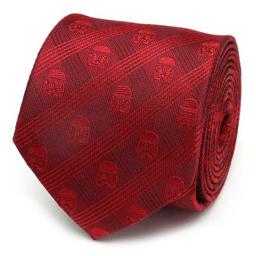 SW-ST9-PLD-TR: Stormtrooper Red Plaid Men's Tie