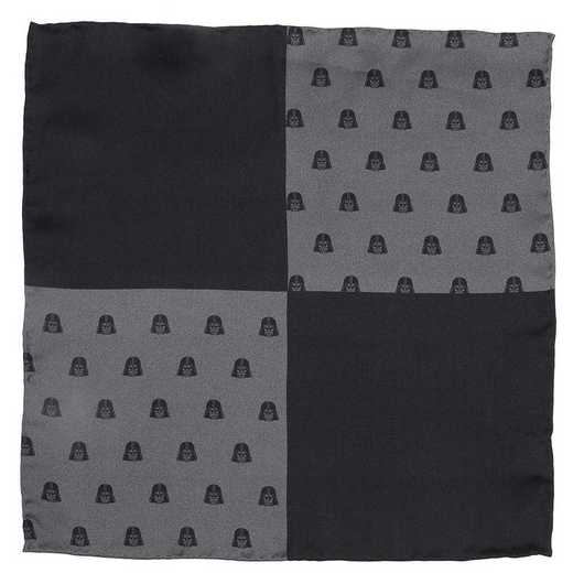 SW-VDR-BLK-PS: Darth Vader Black Pocket Square
