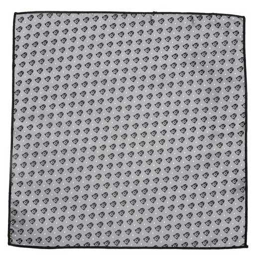 SW-VDR-DT-GRY-PS: Darth Vader Gray Dot Pocket Square