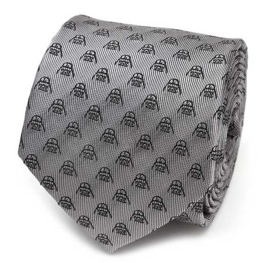 SW-VDR-MTBK-TR: Darth Vader Metallic Black Men's Tie