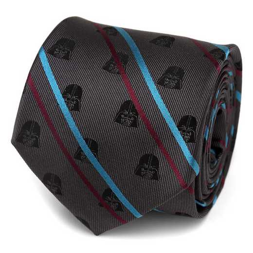 SW-VDR-STP-BK-TR: Darth Vader Black Striped Men's Tie