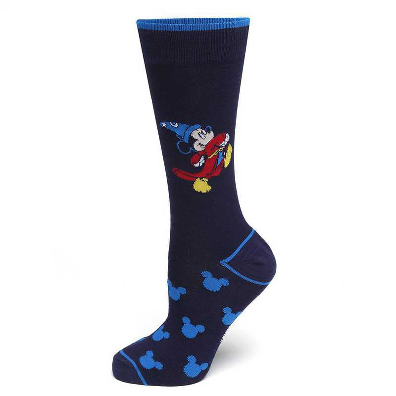 DN-NM-FANT-BL-SC: Fantasia Mickey Mouse Navy Socks