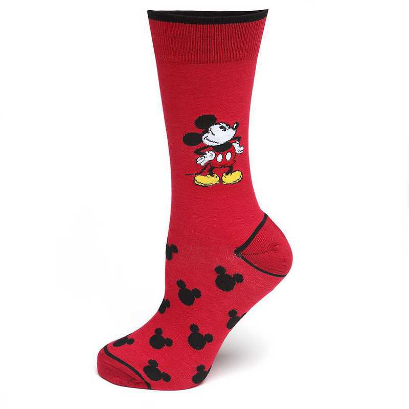 DN-NM-MPIE-RD-SC: Pie-Eyed Mickey Mouse Red Socks