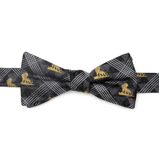 DN-LPOS-BK-BT: Lion King Pose Black Men's Bow Tie