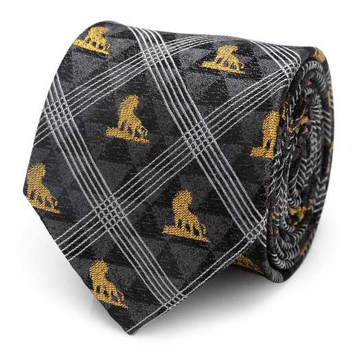 DN-LPOS-BK-TR: Lion King Pose Black Men's Tie