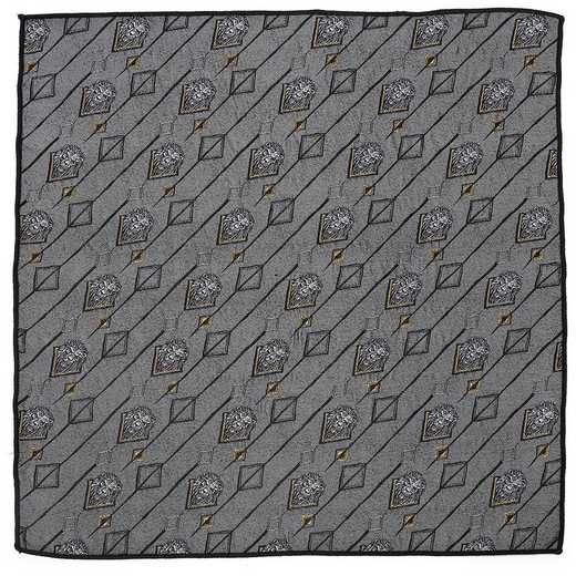 DN-SCARY-GRY-PS: Scar Gray Pocket Square