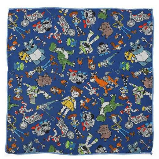DN-TSMTF-BL-BPS: Toy Story 4 Characters Blue Boy's Pocket Square