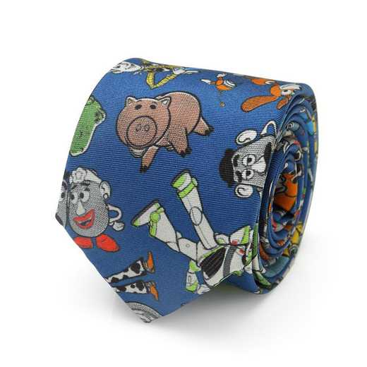 DN-TSMTF-BL-KT-BB: Toy Story 4 Characters Blue Big Boy's Tie