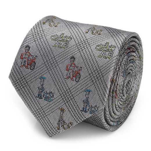 DN-TSS-BK-TR: Toy Story Symbols Black Men's Tie