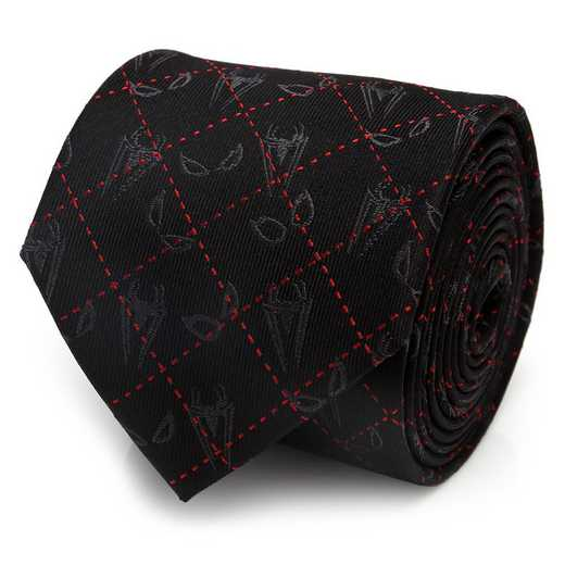 MV-SPSCT-BLK-TR: Spider-Man Eyes Diamond Men's Tie
