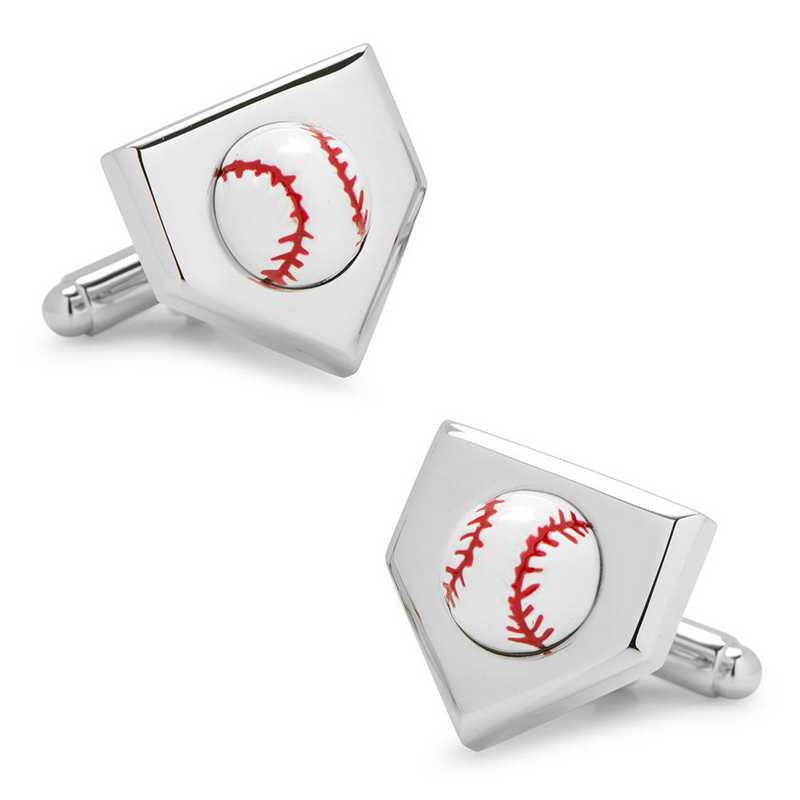 CC-BASE-3D: 3D Baseball Home Plate Cufflinks