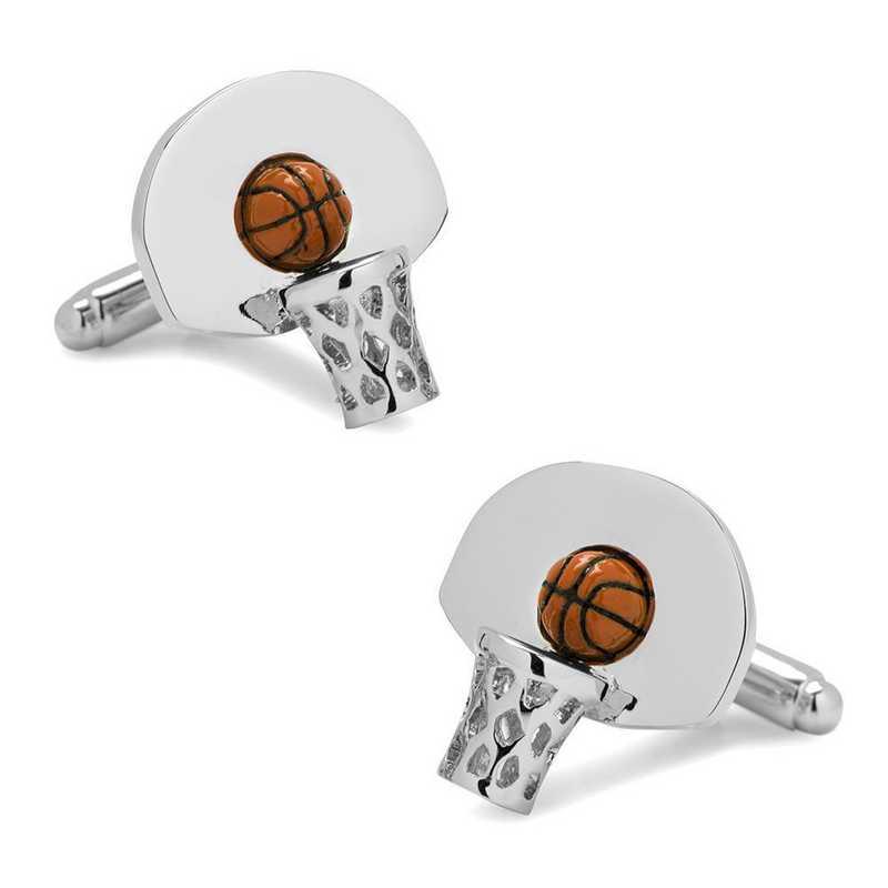 CC-BSKB-3D: 3D Basketball Hoop Cufflinks