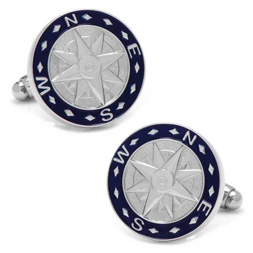 CC-COMP-SL: Blue Compass Cufflinks