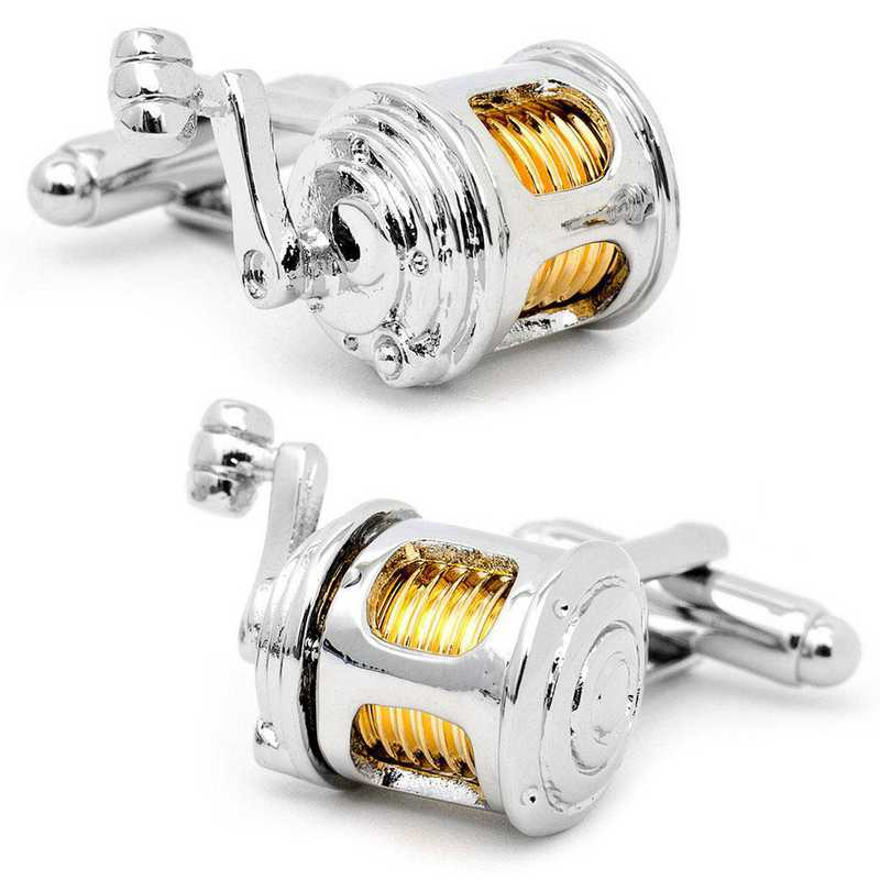 CC-FRL-SL: Fishing Reel Cufflinks