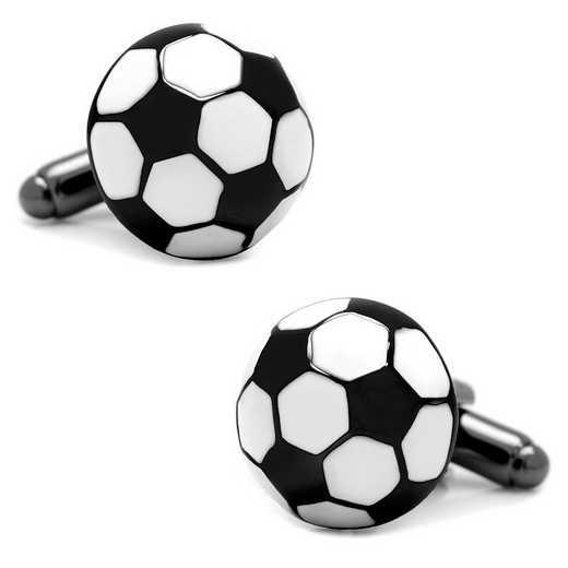 CC-SOCB-BK: Soccer Ball Cufflinks