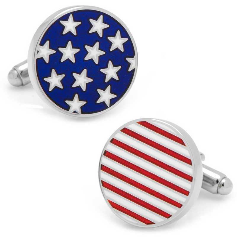CC-STST-SL: Stars and Stripes American Flag Cufflinks